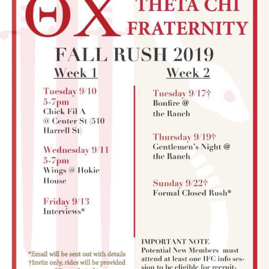 Recruitment Schedule and Contact – Interfraternity Council